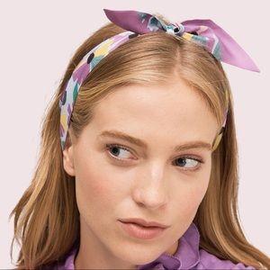 NWOT Kate Spade Floral Skinny Silk Scarf